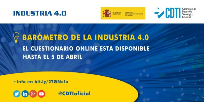 INDUSTRIA 4.0 | Ya está abierto el cuestionario online para participar en el Barómetro de la Industria 4.0